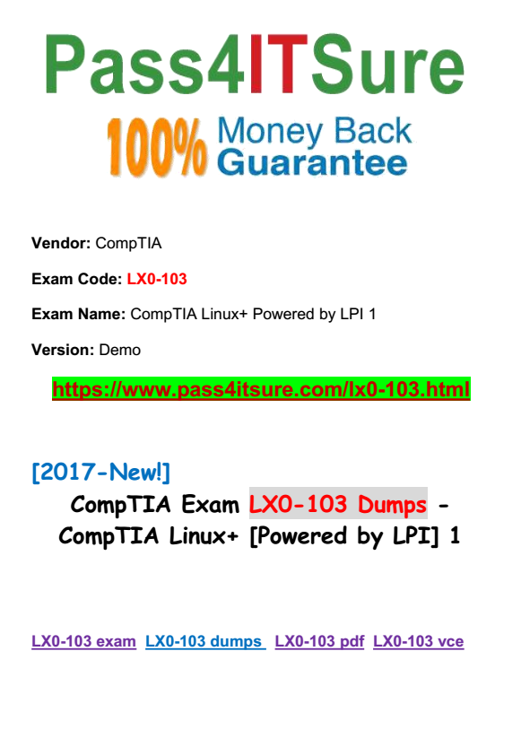 Lpic 1 Comptia Linux Certification All In One Exam Guide Pdf